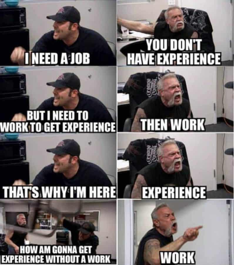 work experience paradox
