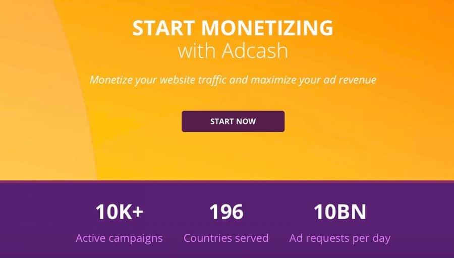 adcash review - publishers platform