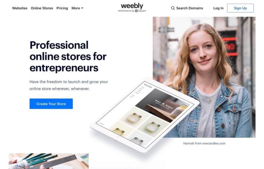 shopify alternatives - weebly