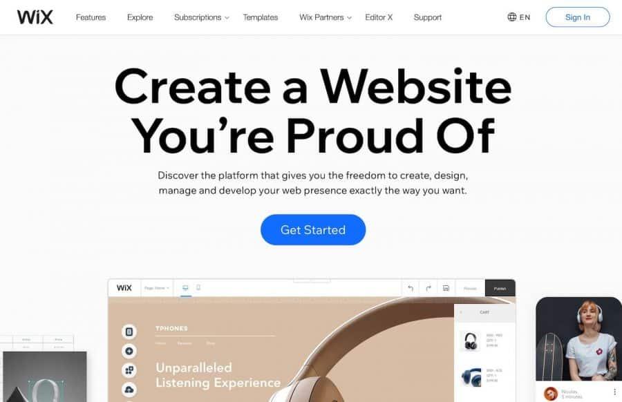 shopify alternatives - wix