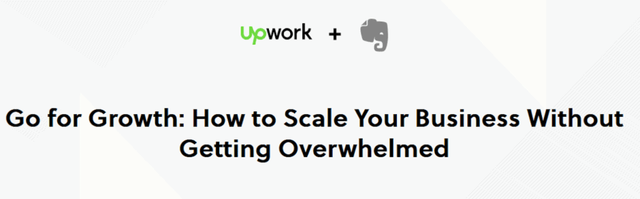 content marketing collaboration - evernote and upwork