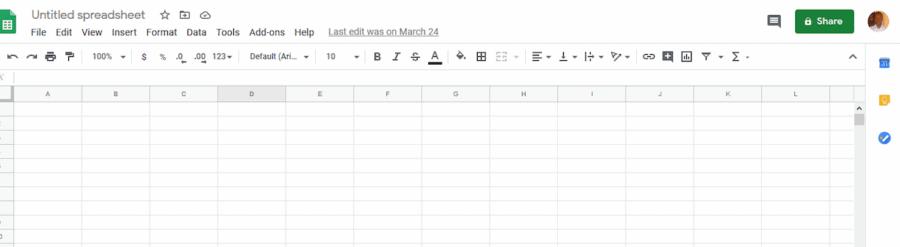 content marketing collaboration - spreadsheet