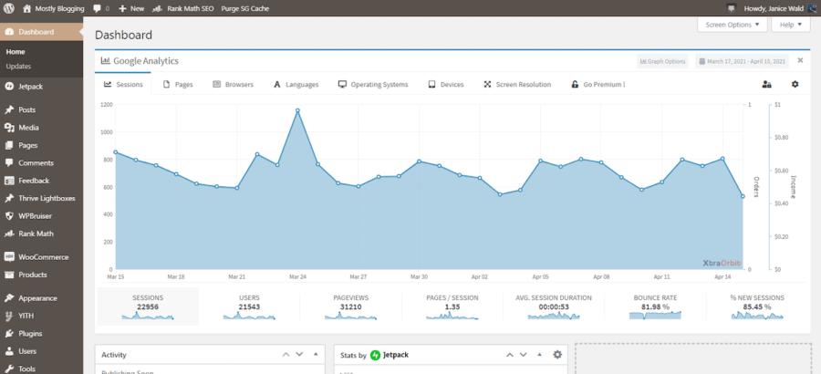 SEO Rebranding Case Study - Google Analytics